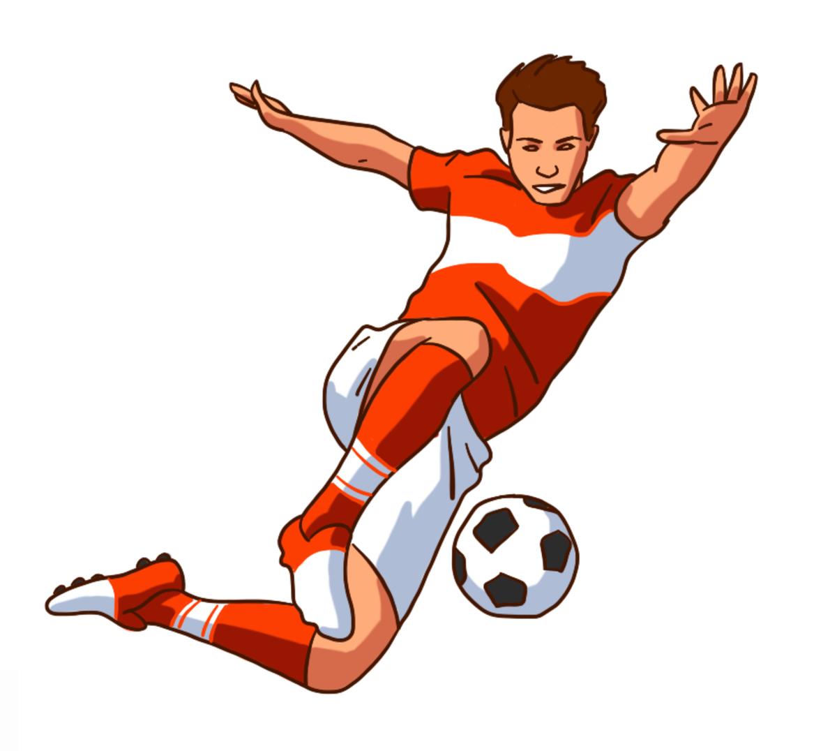 Футбольные нарисованные картинки